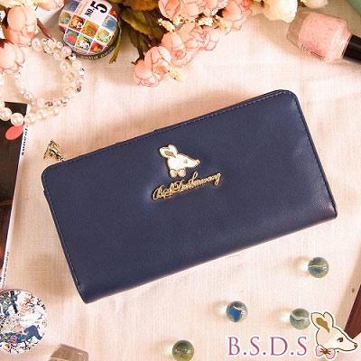 B.S.D.S冰山袋鼠-拉鍊蓋釦長夾-寶石藍
