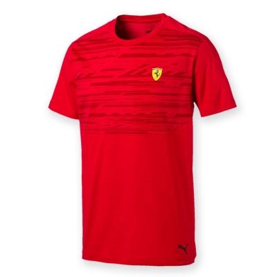 PUMA-男性法拉利車迷系列印花短袖T恤-法拉利紅-歐規