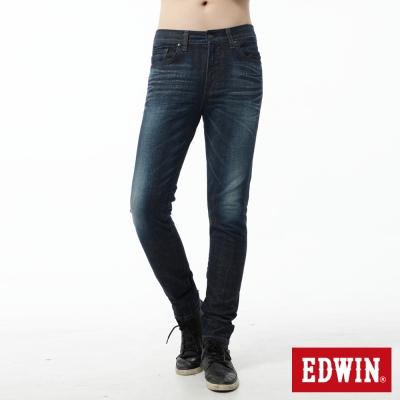 EDWIN-窄直筒-EDGE-LINE牛仔褲-男-酵洗藍