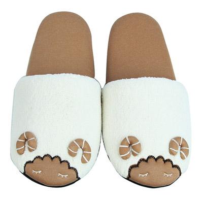 Yvonne-Collection綿羊胖胖拖鞋-米