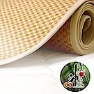 神田職人-雙人5尺 3D加厚 棉麻透氣天然涼蓆-格紋E