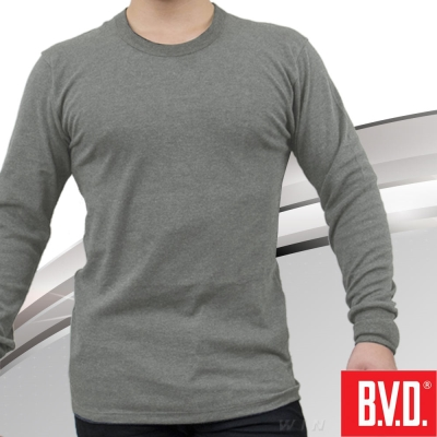 BVD 棉絨圓領長袖衫-台灣製造