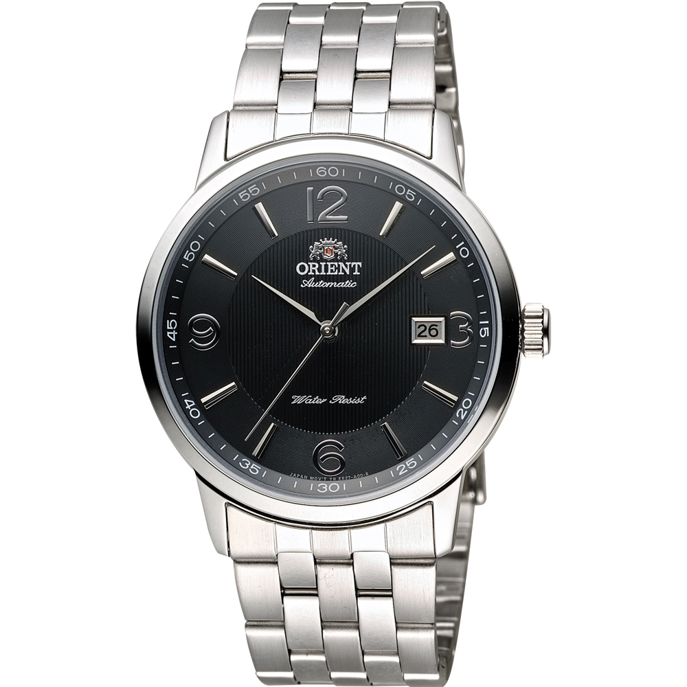 ORIENT 東方錶 DATE系列 城市菁英機械錶-黑x銀/41mm