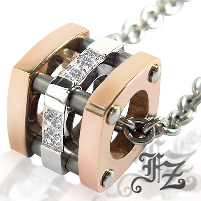 【FZ】甜蜜 深情依戀白鋼項鍊(玫瑰金)