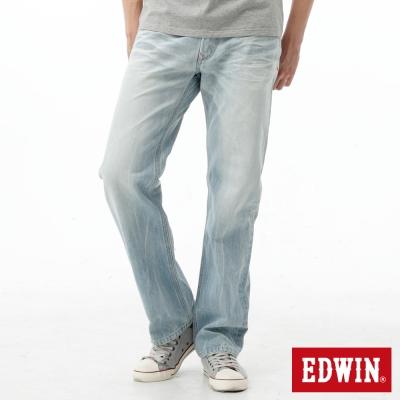 EDWIN-中直筒-505麂皮後袋花牛仔褲-男-重漂藍