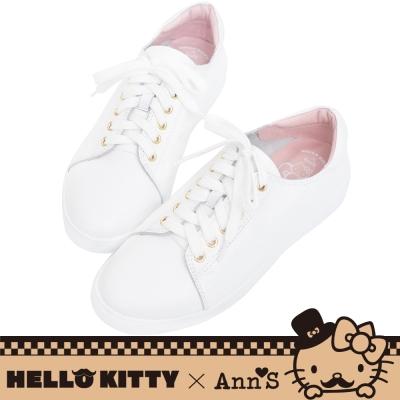 HELLO KITTY X Ann'S達利2way蝴蝶結真皮休閒鞋-白