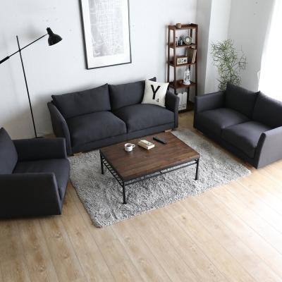 H&D 瑪德琳厚造型1+2+3人座布沙發(2色)