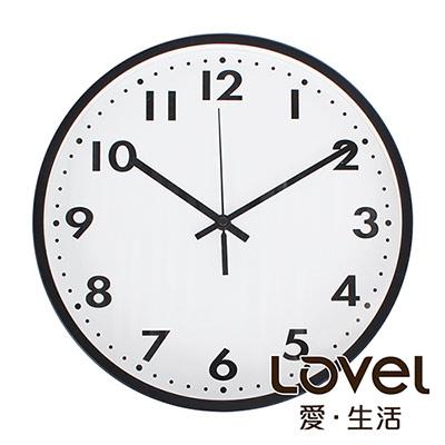 LOVEL 30cm 摩登膠框時鐘-共2款