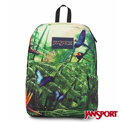 JANSPORT -HIGH STAKES系列校園後背包 -熱帶叢林