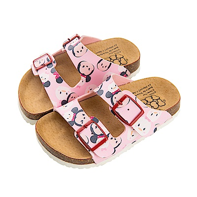 迪士尼童鞋 TsumTsum 米妮 休閒拖鞋-粉