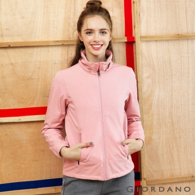 GIORDANO 女裝可拆帽防風保暖外套 - 36 粉紅花紗