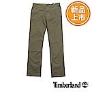 Timberland 男款橄欖綠修身版彈性斜紋休閒褲