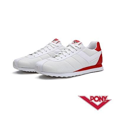 【PONY】Roadrunner系列-經典復古慢跑鞋-男-紅