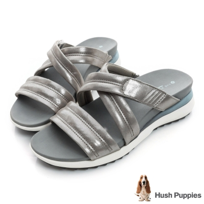 Hush Puppies ISABELL 時尚輕量運動涼拖鞋-銀色