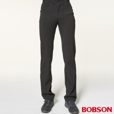 BOBSON 男款灰黑伸縮煙管褲