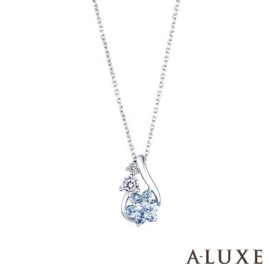A-LUXE 亞立詩 Shine系列 10K托帕石鑽石項鍊