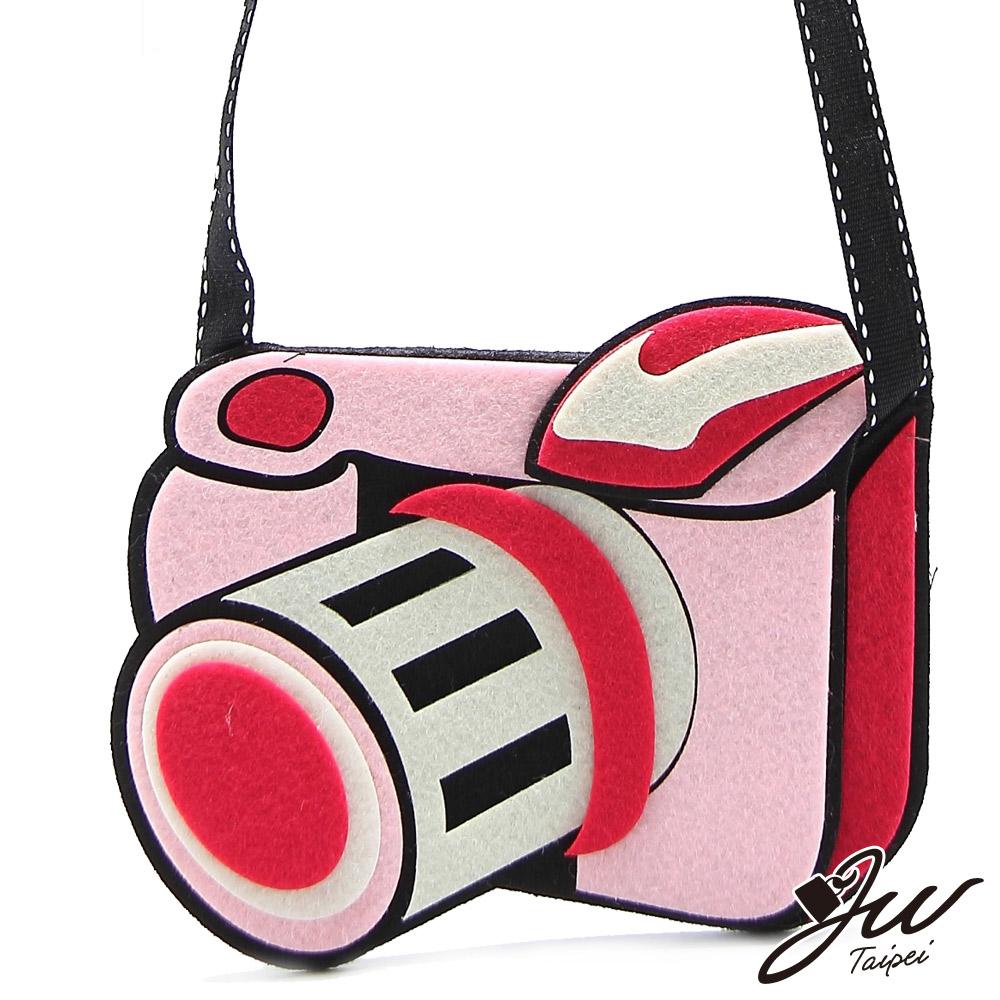 JW 攝影達人不織布造型肩側小包 氣質粉(快)
