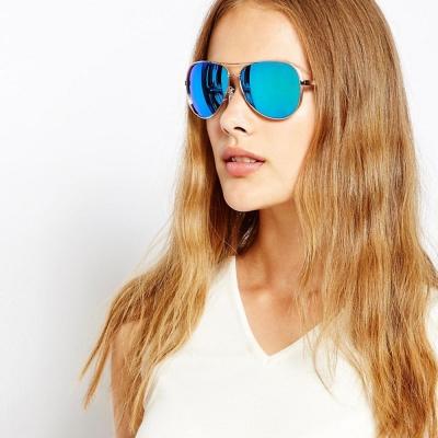 MICHAEL KORS太陽眼鏡 經典飛官/金-水銀藍#MK5004 100322