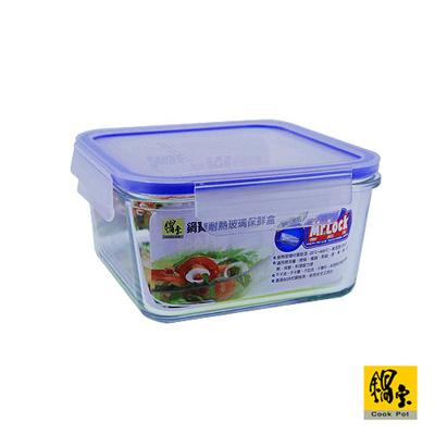 鍋寶耐熱玻璃保鮮盒(1100ml) BVC-1102