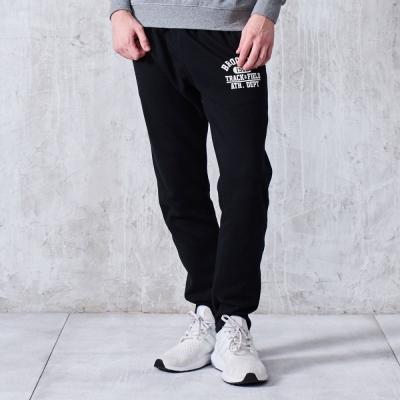 CACO-BK油墨排字棉長褲.情侶款(兩色)-男【MAR104】