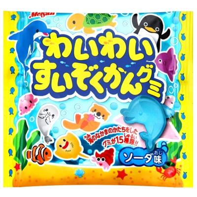 明治 水族館生物造型軟糖-蘇打(24g)