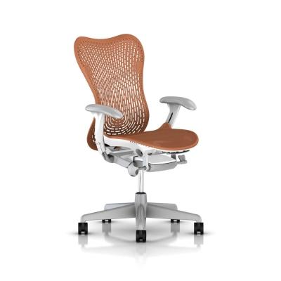 Herman Miller Mirra 2人體工學椅全新進化改版-白框系列-都會橘