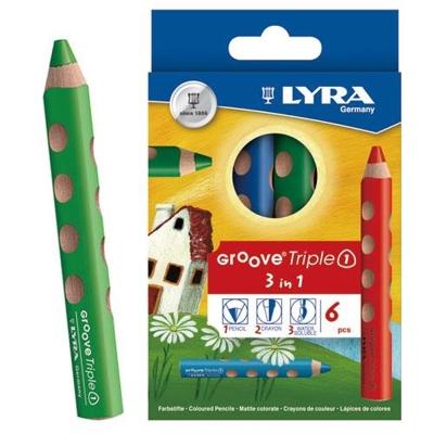 德國LYRA GROOVE(3合1)胖胖三角洞洞筆(6色)