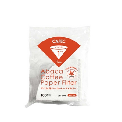 CAFEC AC1-100W V01麻纖維咖啡濾紙100入*2-(HG5002W*2)