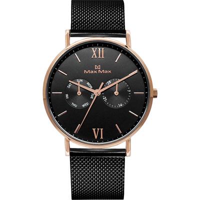 Max Max 三秒翻轉你的時尚腕錶禮盒-MAS7018-1/39mm