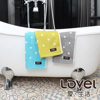 Lovel 專利咖啡紗除臭抗UV圓點毛巾3件組