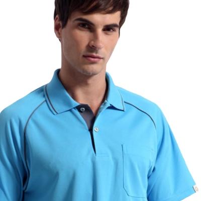 【Sunrise】88117清澈水藍★短袖POLO男版襯衫