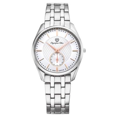 Olympia Star 奧林比亞之星經典都會系列小秒針時尚腕錶-白/36mm