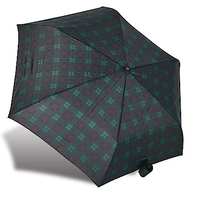 RAINSTORY藍綠格紋抗UV輕細口紅傘