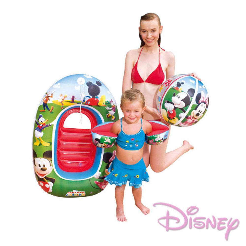 【迪士尼】兒童旅行用充氣戲水套裝-米妮