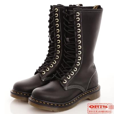『ORIS』女款 經典個性14孔長休閒靴.馬汀靴~黑