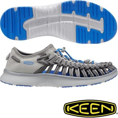 KEEN 男戶外護趾涼鞋Uneek O2-1016909深灰/寶藍