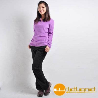 Wildland-荒野-92309-女-SOFTSHELL保暖長褲-黑色