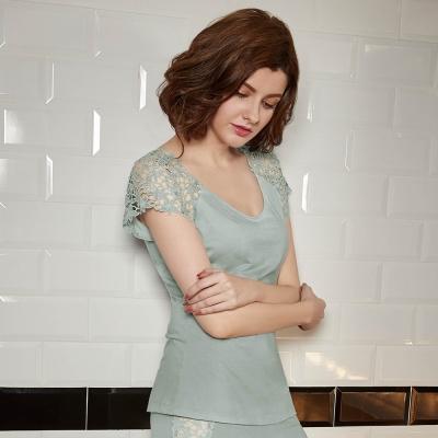 曼黛瑪璉  Marie One 短袖上衣(水漾藍)