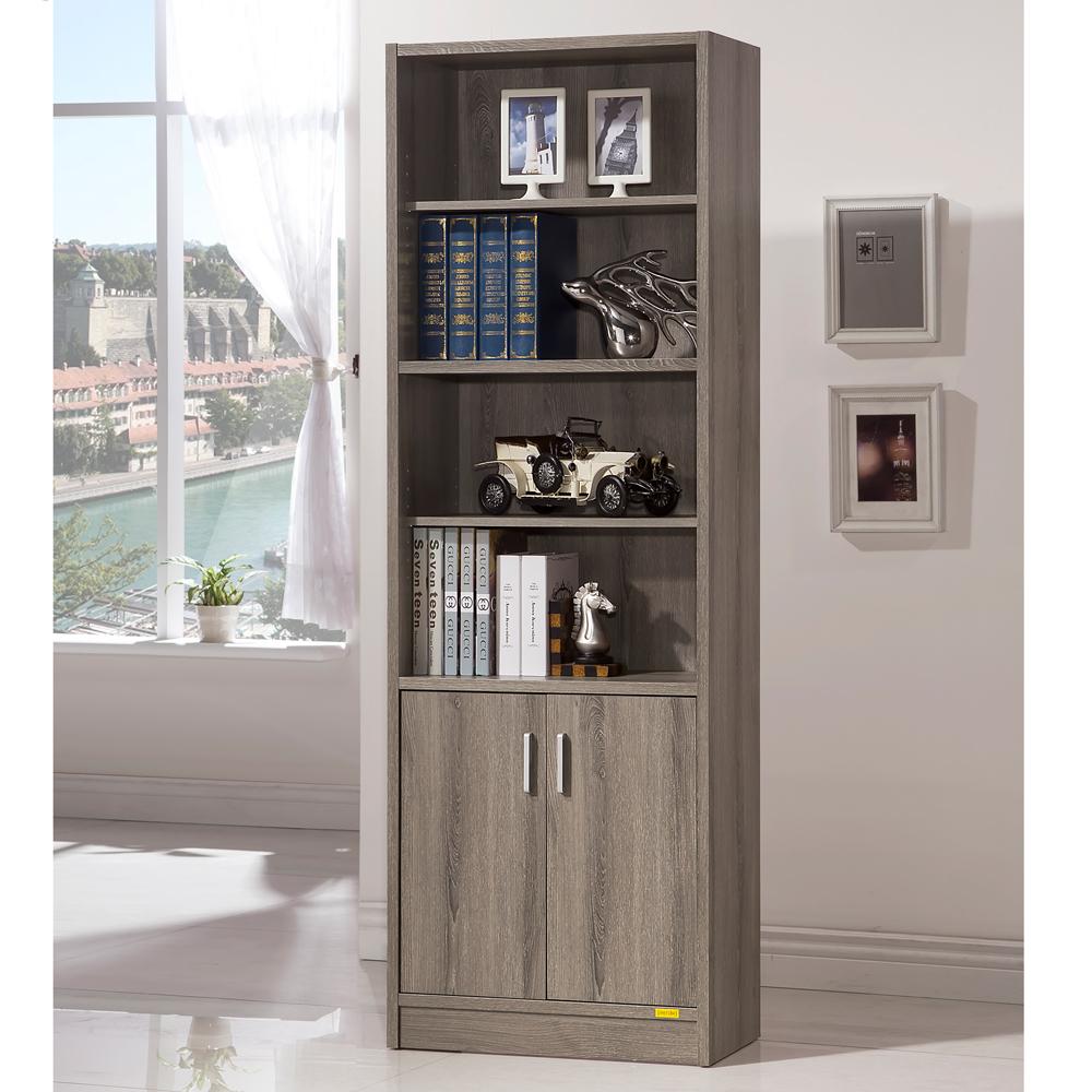 COMDESK六段雙門厚板書櫃收納櫃-DIY
