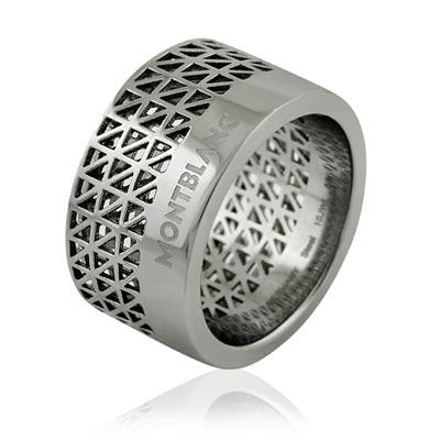 MONT BLANC 萬寶龍 鏤空三角形圖樣寬版戒指