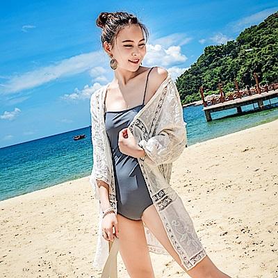 Biki比基尼妮泳衣   奕姿泳衣罩衫薄外套可內搭比基尼(單罩衫)
