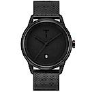 TYLOR簡約時尚米蘭帶手錶-黑/43mm