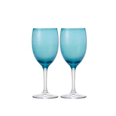 【ADERIA】日本進口葡萄酒專用玻璃對杯(藍)