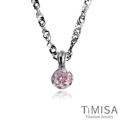 TiMISA《甜蜜心鑽》純鈦項鍊(10E)