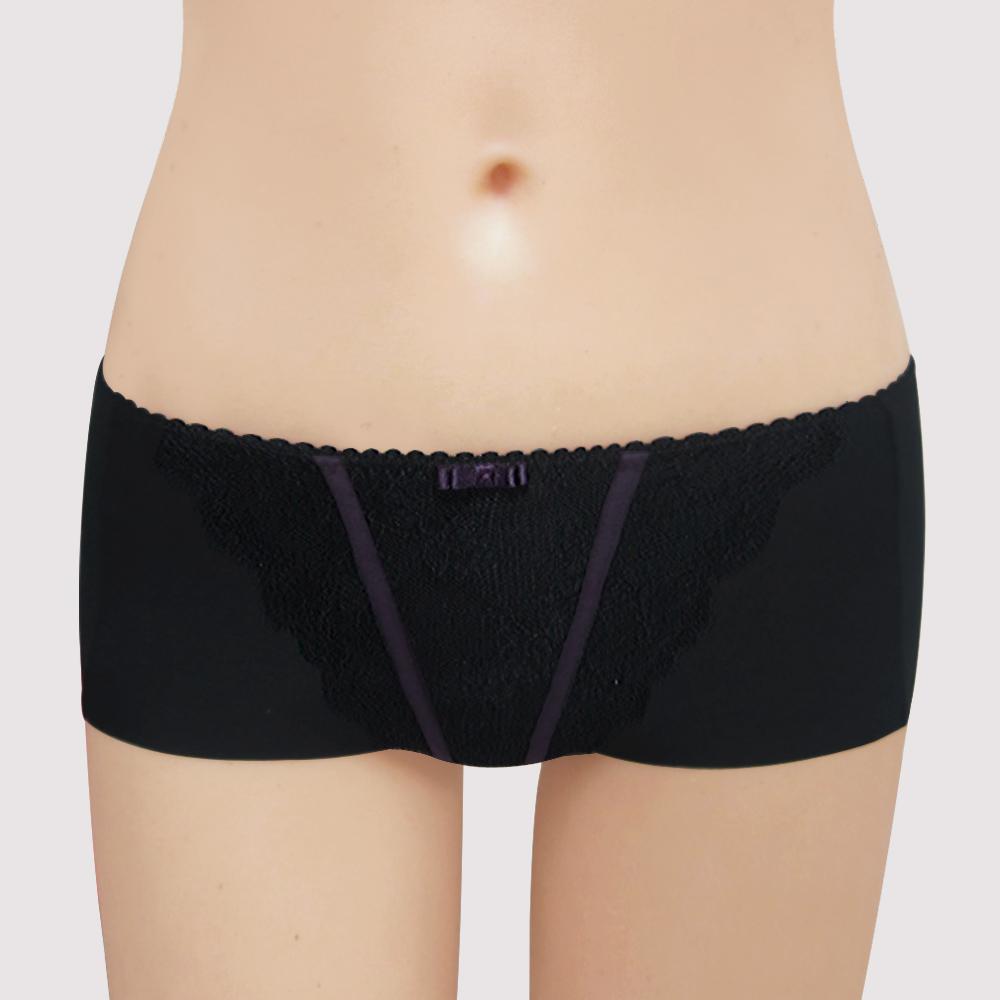 瑪登瑪朵-15AW-我挺妳軟棉圈  低腰平口無痕褲(黑)