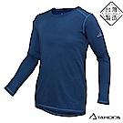 TAKODA加倍機動2018新款 男士刷毛機能輕薄圓領保暖衣(藏藍色)