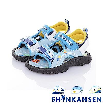 三麗鷗 新幹線童鞋 舒適減壓防滑運動休閒涼鞋-藍
