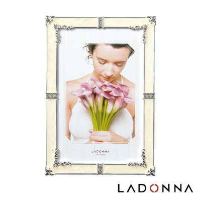 日本 LADONNA Bridal 幸福花嫁 百合情緣4X6相框白