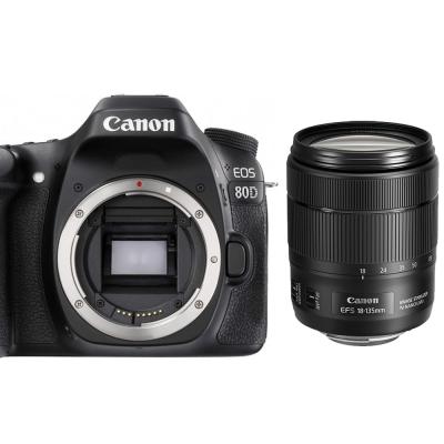 Canon EOS 80D+18-135mm IS USM 單鏡組*(平輸中文)