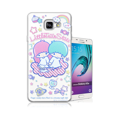 三麗鷗正版 雙子星 Samsung Galaxy A5 (2016)透明軟式保護...